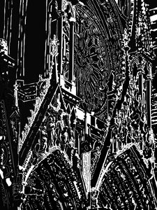 CATHEDRALE DE REIMS  la Crucifixion - Henri DUMONT