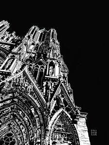 CATHEDRALE DE REIMS TOUR SUD - Henri DUMONT