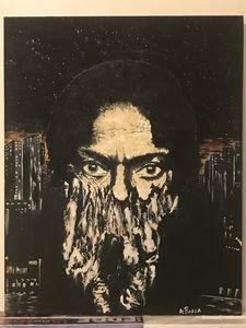 Fusion - oil on canvas - Miles Davis