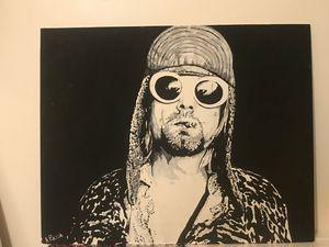 Kurt - oil - black and white