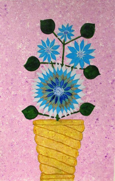 Blue Flowers - Chris Butler