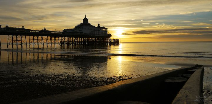 Golden Sunrise at Eastbourne Pier - Lionel Fraser, Pictures of Eastbourne, England