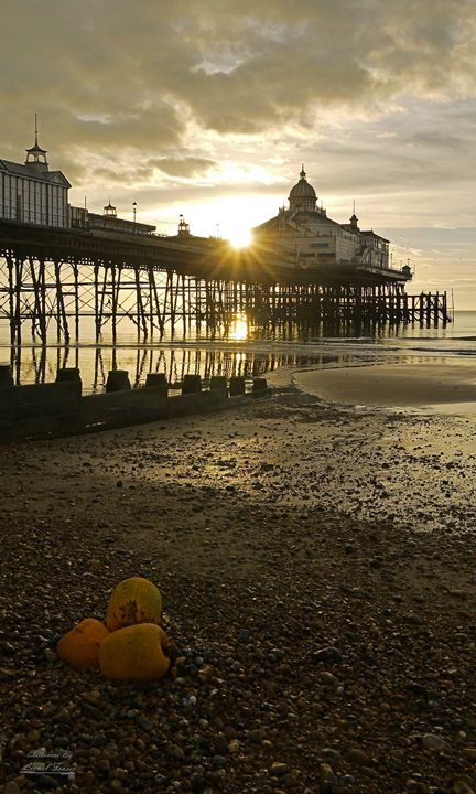 Eastbourne Pier Sunrise - Lionel Fraser, Pictures of Eastbourne, England