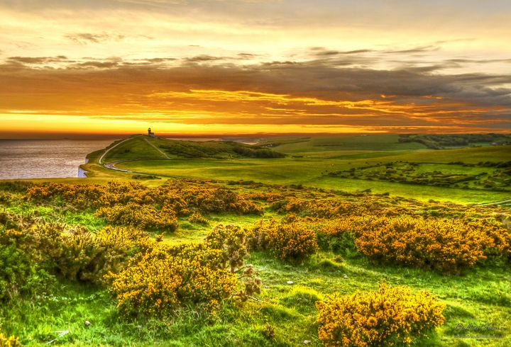 Beachy Head Lighthouse Sunset HDR - Lionel Fraser, Pictures of Eastbourne, England