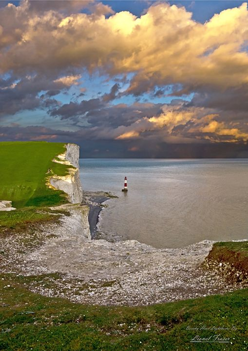 Sunset and Storm Beachy Head - Lionel Fraser, Pictures of Eastbourne, England