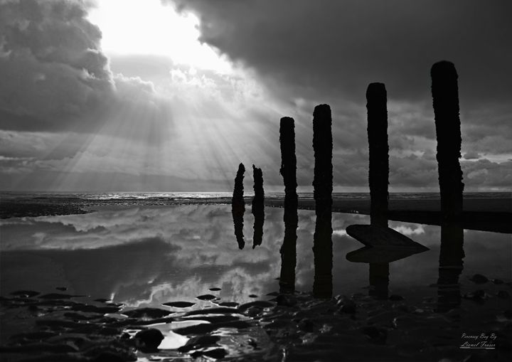 Shafts of Light Through the Clouds - Lionel Fraser, Pictures of Eastbourne, England