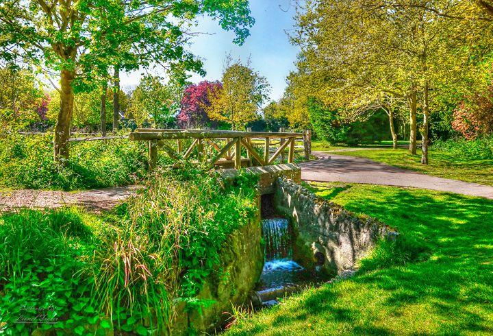 Spring, Stream in Hampden Park - Lionel Fraser, Pictures of Eastbourne, England