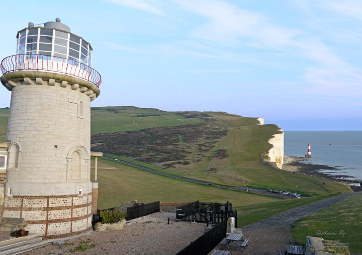 Belle Tout & Beachy Head Lighthouse - Lionel Fraser, Pictures of Eastbourne, England