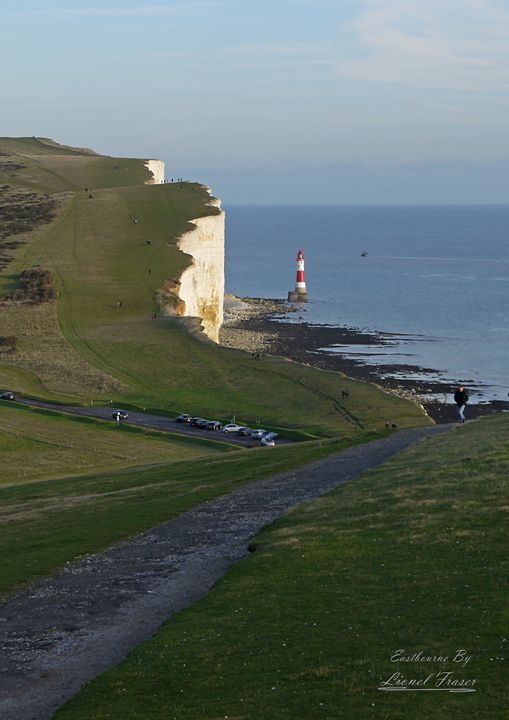 Beachy Head Lighthouse - Lionel Fraser, Pictures of Eastbourne, England
