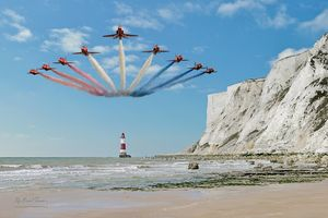 Red Arrows Over Beachy Head Lighthou