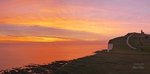 Belle Tout Lighthouse at Sunset