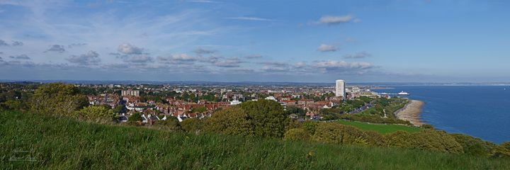View Over Eastbourne - Lionel Fraser, Pictures of Eastbourne, England