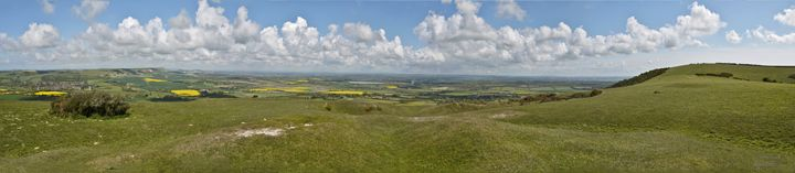 View from the top of the Southdowns - Lionel Fraser, Pictures of Eastbourne, England