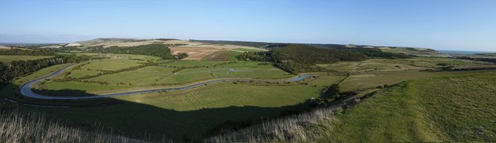 Cuckmere Haven Valley River - Lionel Fraser, Pictures of Eastbourne, England