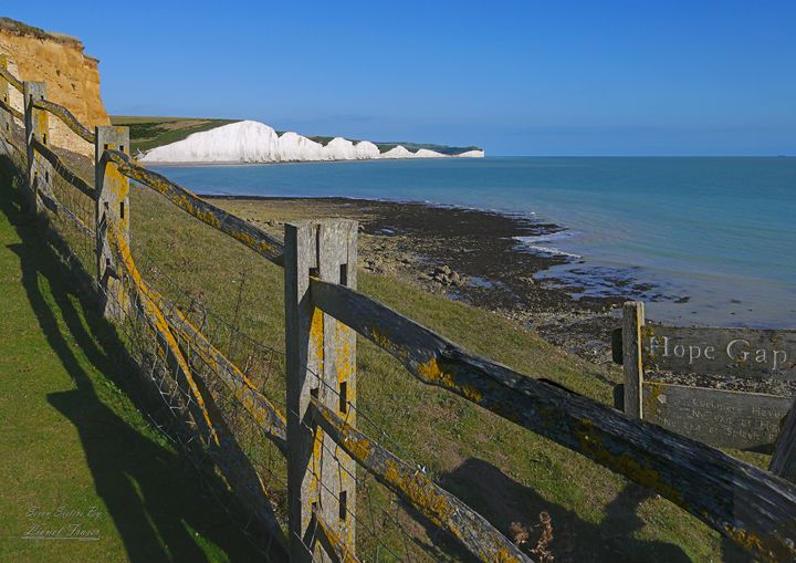 Seven Sisters From Hope Gap - Lionel Fraser, Pictures of Eastbourne, England