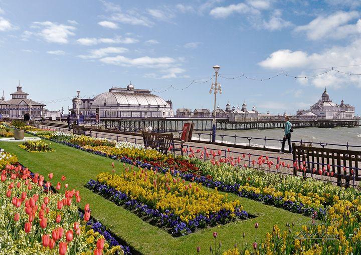Eastbourne Pier and Carpet Gardens - Lionel Fraser, Pictures of Eastbourne, England