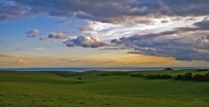 Sunset on the top of Beachy Head
