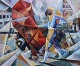 bullfighter,bull,cubism,Spain