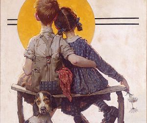 Norman Rockwell Puppy Love