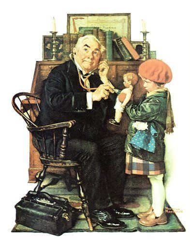 Norman Rockwell Doctor And Doll - Norman Rockwell
