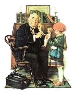 Norman Rockwell Doctor And Doll