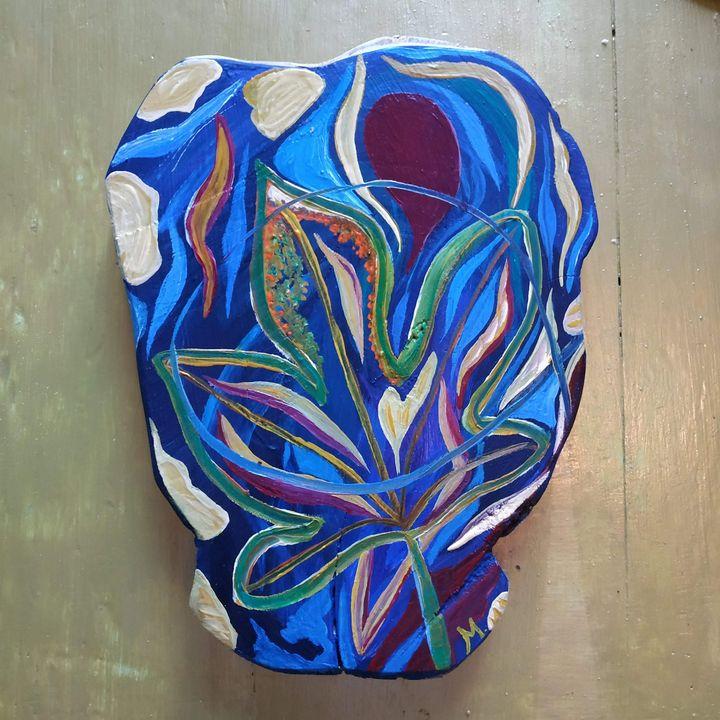 À l'ombre bleue du figuier - Magda Hoibian Artiste