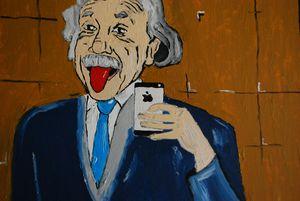 Albert Einstein takes a selfie