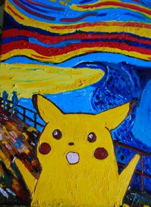 screaming pikachu