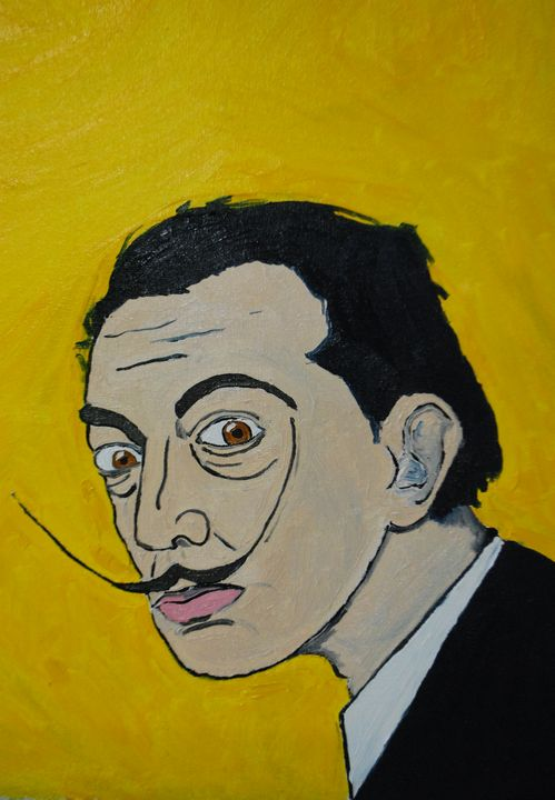 portrait of Salvador Dali - Kaliberdarts
