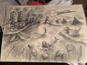 Victorious Solis in pencil