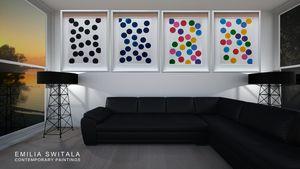 4 art prints, Dots