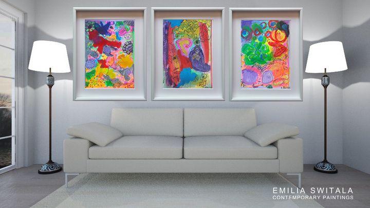 3 art prints - Emilia Switala Contemporary Paintings