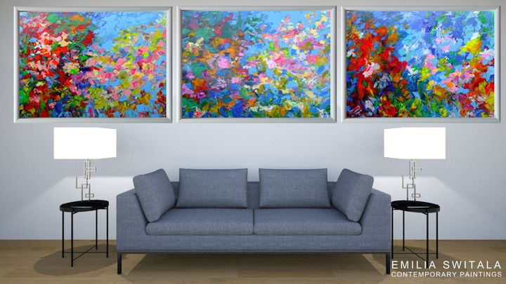 Extra large giclee art prints - Emilia Switala Contemporary Paintings
