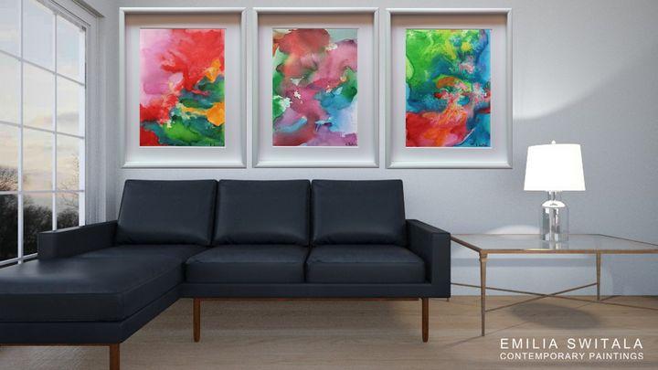 3 Extra Large Art Prints - Emilia Switala Contemporary Paintings