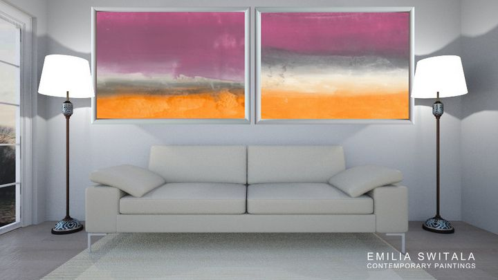 XL 2 Large Abstract Landscape Prints - Emilia Switala Contemporary Paintings