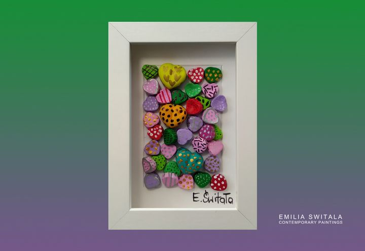 order similar heart sculpture - Emilia Switala Contemporary Paintings
