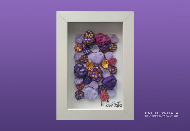 Purple Love Sculpture - Emilia Switala Contemporary Paintings