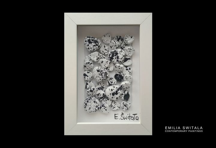 Love Sculpture - Black and White - Emilia Switala Contemporary Paintings
