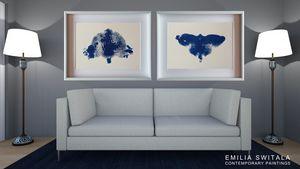 2 Art Prints, Moth and Panda Bear