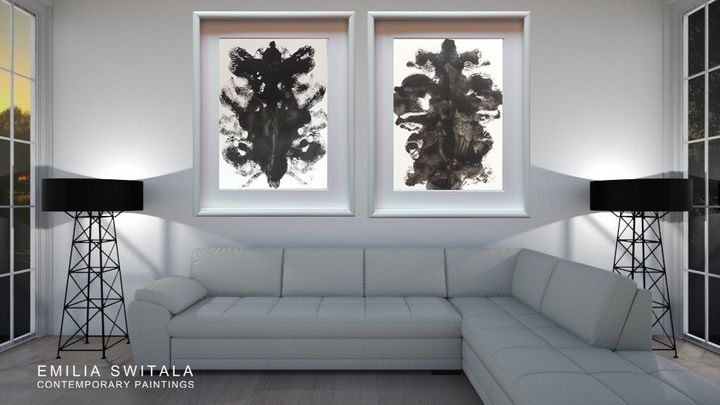 2 Art Prints, Psychological Art - Emilia Switala Contemporary Paintings