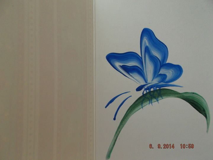 hand painted card - Original Decrative Art