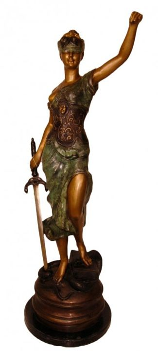 Blind Justice Bronze - Ocean View Antiques, Artefacts and Artwork