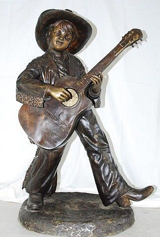 Boy Playing a Guitar - Ocean View Antiques, Artefacts and Artwork