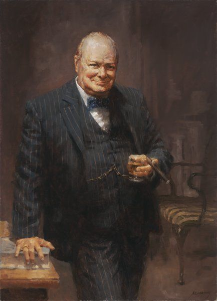 Churchill by Andy Thomas - Ocean View Antiques, Artefacts and Artwork
