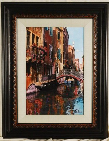 Canal with Reflections - Ocean View Antiques, Artefacts and Artwork