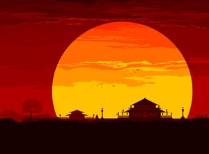 Sunset in the Orient