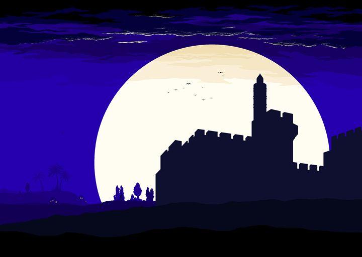 Moonlight over David's citadel - Ely Greenhut