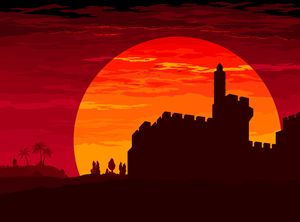 Sunset over David's citadel - Ely Greenhut
