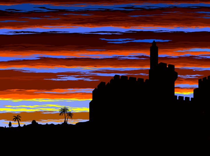 Sunset in Jerusalem - Ely Greenhut