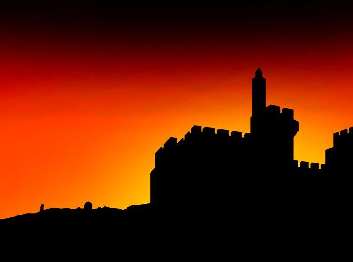 David's citadel in Jerusalem, - Ely Greenhut